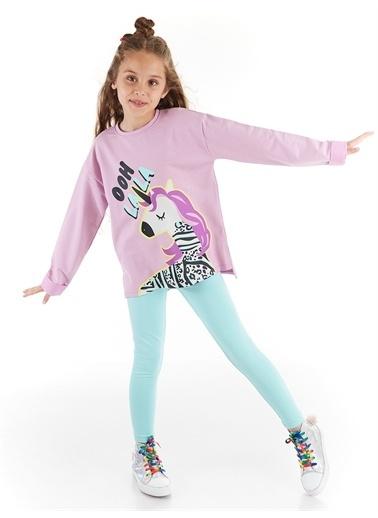 Denokids Lalacorn Kız Tunik Takım Renkli